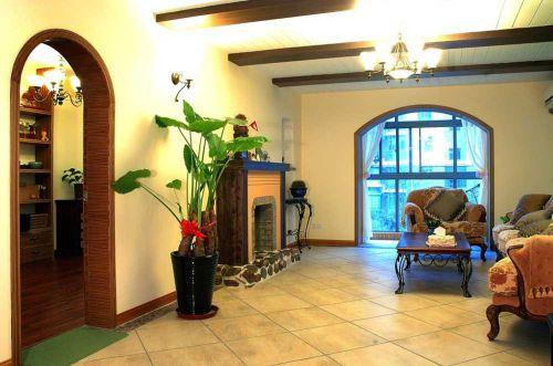 现代美式风格客厅过道图片