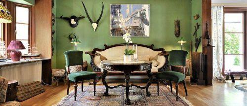 美式田园客厅室内设计效果图