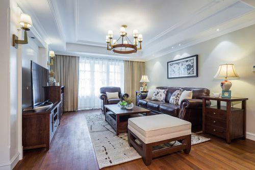 2016休闲美式风格客厅装潢设计