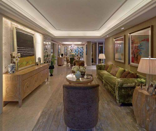美式浪漫客厅装修效果图