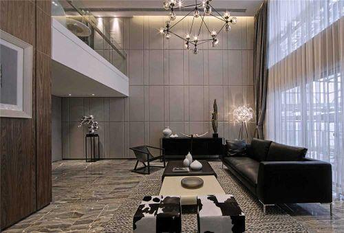 创意极简美式风格客厅装潢