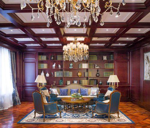美式复古客厅装修设计图