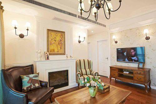 2016美式客厅装修效果图