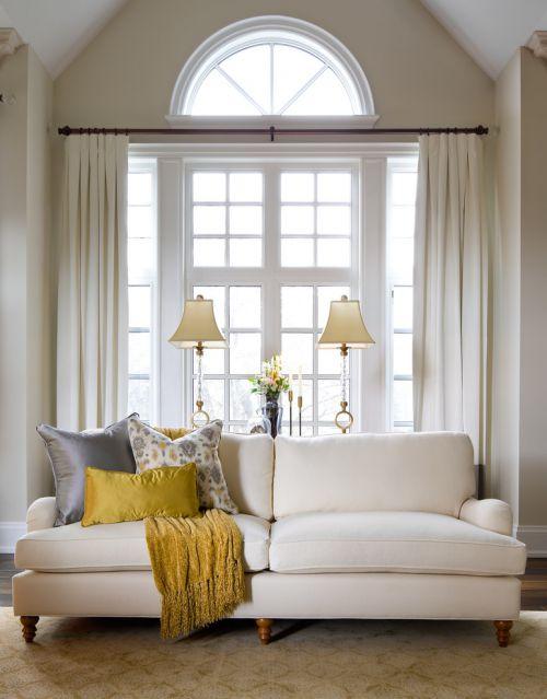 白色美式客厅设计装潢