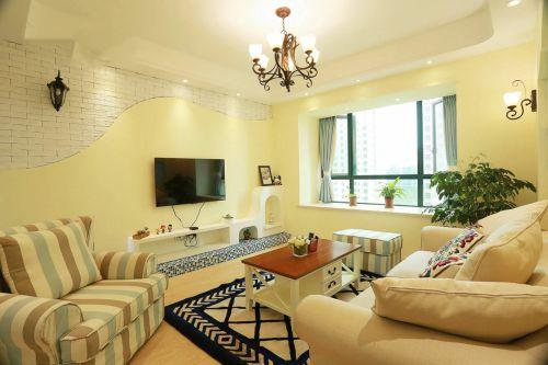 2016米色美式风格客厅装修案例