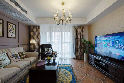 现代美式风格客厅布置欣赏