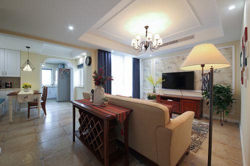 美式浪漫典雅清爽客厅装修设计
