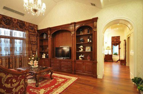 大气沉稳时尚美式风格客厅装修图片