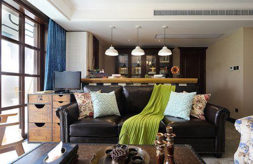 美式工业时摩登风格客厅装修效果图设计