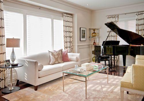 美式复古客厅实景拍摄