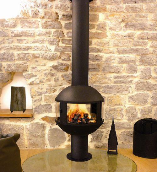 米色创意美式客厅电子壁炉装修