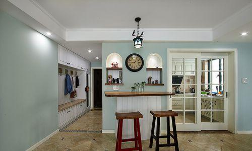 清新绿色美式客厅装修案例