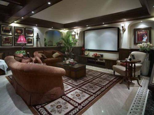 低奢美式客厅装潢设计