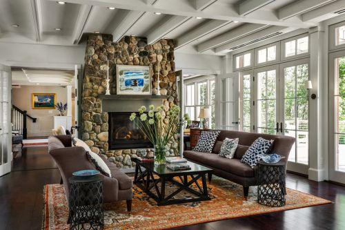 美式风格灰色客厅设计