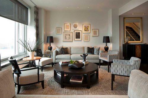 美式清新风格客厅装潢