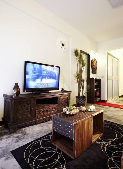大气美式风格客厅装潢装修布置
