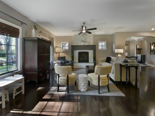 自然文艺美式客厅装修图