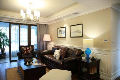 美式风格英伦范米色客厅设计欣赏