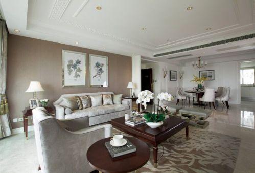米色美式风格客厅美图赏析