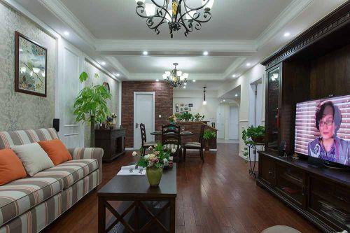 休闲美式风格客厅装修效果图片