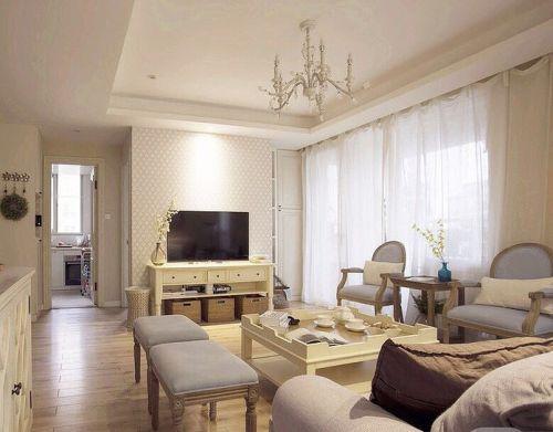 美式风格米色客厅装饰设计图片