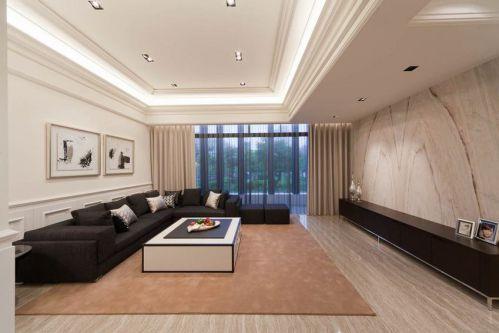 简洁美式风格客厅装潢案例