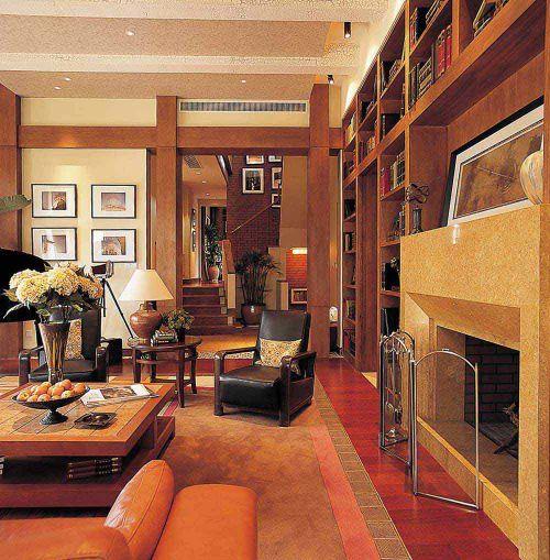 美式沉稳大气古堡风格客厅展示