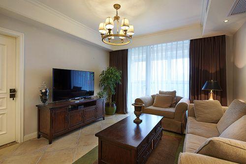 到恬静时尚美式风格客厅图片
