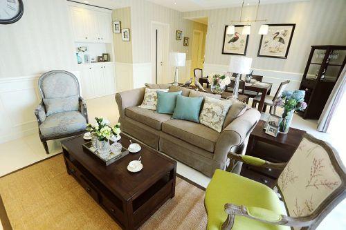 美式风格黄色客厅设计赏析