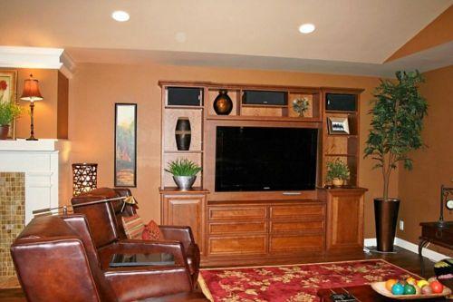 简洁美式风格客厅装修效果展示