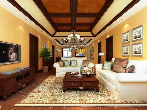 大气古典美式客厅设计