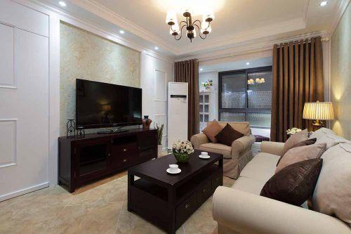 简约美式风格二居室客厅装潢