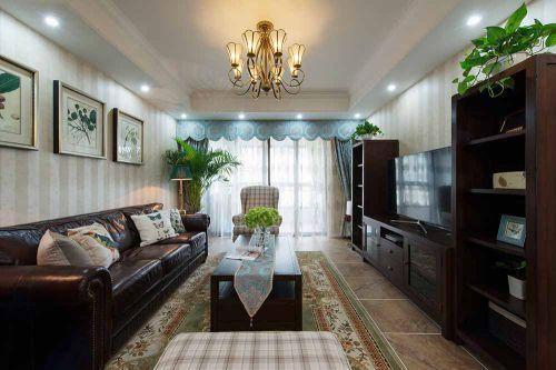 2016古典美式田园风格客厅装修效果欣赏