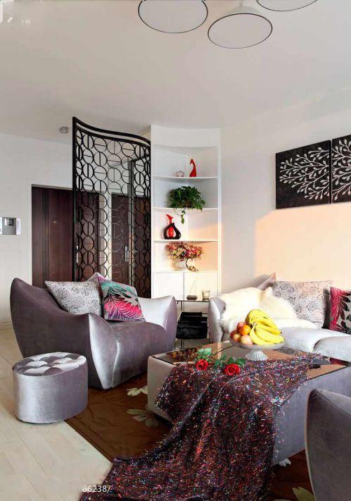 2105美式客厅装修设计效果图片