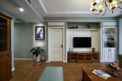 美式代原木个性客厅装修效果图