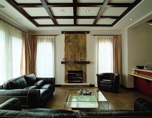 大气时尚美式风格客厅装潢布置
