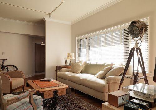 雅致时尚清爽美式风格客厅装修图