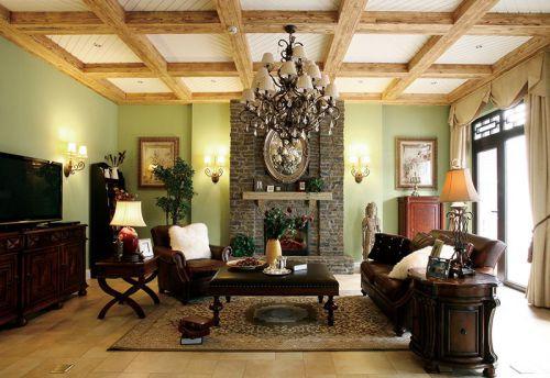 复古雅致美式客厅效果图赏析