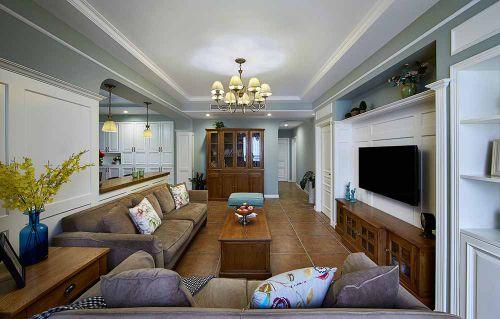 美式简约客厅装修效果图