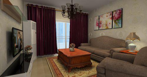 简洁美式风格客厅设计图欣赏