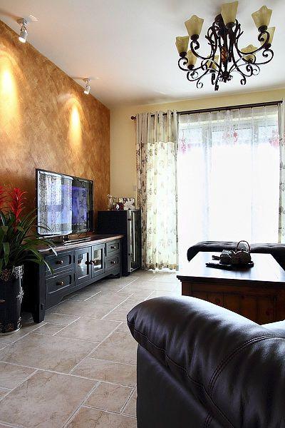 典雅美式创意风格客厅背景墙图片