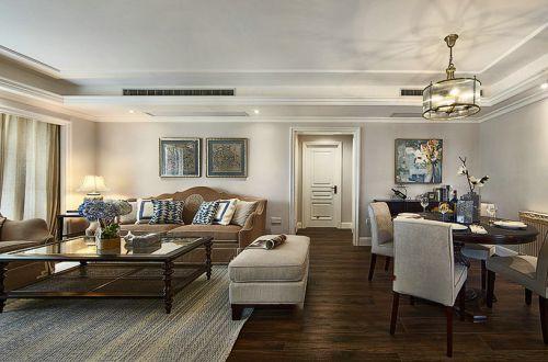 美式风格温馨米色客厅装修设计