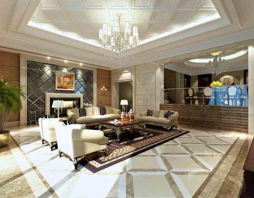 现代美式客厅窗帘设计赏析
