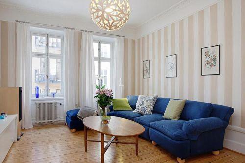 米色美式客厅装潢设计