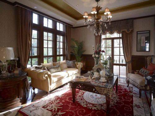 美式经典华美客厅设计实例