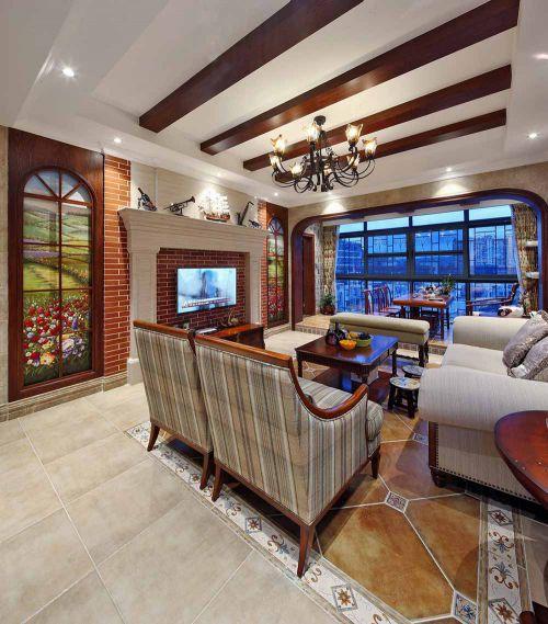美式田园风格客厅设计案例