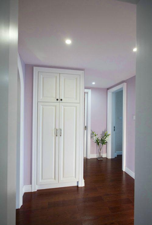 白色简洁美式收纳柜设计案例