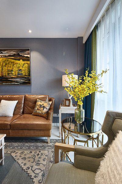 灰色混搭风格客厅图片