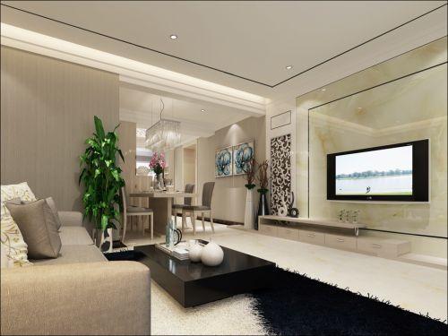 2016米色混搭风格客厅设计装潢
