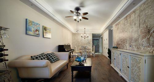 混搭风格清新米色客厅效果图设计